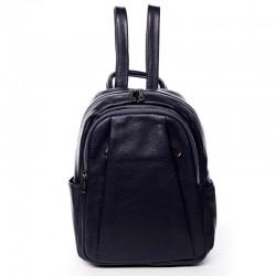 Kožený modrý batoh