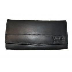 Kožená černá peněženka měkčená