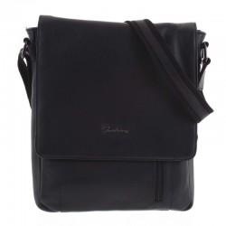 Velká kožená taška černá