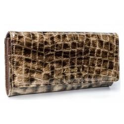 Dámská kožená peněženka se vzorem