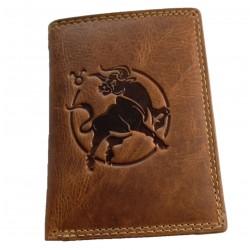 Býk kožená peněženka znamení zvěrokruhu