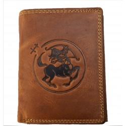 Kožená peněženka znamení zvěrokruhu - Střelec