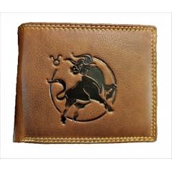Býk - Kožená peněženka znamení zvěrokruhu