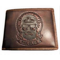 Kožená peněženka Ride or die