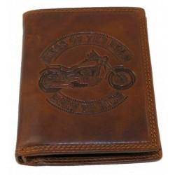 Pánská kožená peněženka motorka