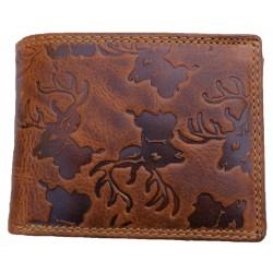 Myslivecká  kožená peněženka jelen