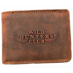 Kožená hnědá peněženka Hunters