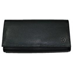 Velká kožená černá peněženka