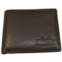 Hunters kožená peněženka dark brown