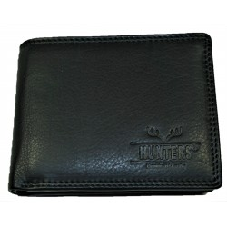 Hunters kožená peněženka black