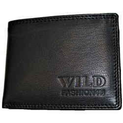 Kožená mini peněženka černá celokožená