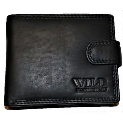 Kožená celokožená peněženka black