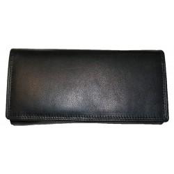 Kožená černá peněženka