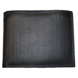 Kožená peněženka černá hladká