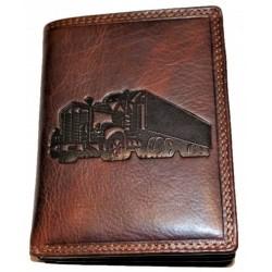 Kožená peněženka kamion dark brown