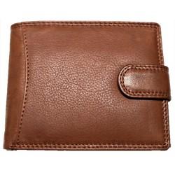 Hnědá kožená pánská peněženka