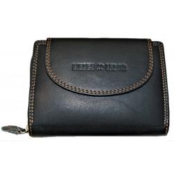 Kožená malá peněženka černá