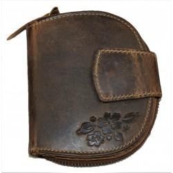 Dámská kožená peněženka podkova flower