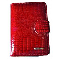 Lakovaná dámská peněženka red