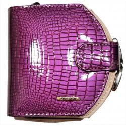 Dámská kožená peněženka podkova violet