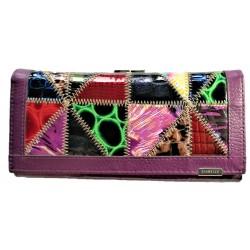 Kožená peněženka mix violet