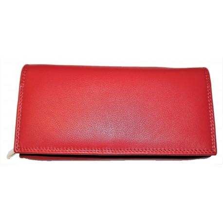 Kožená peněženka červená