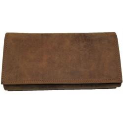 Velká kožená peněženka hnědá