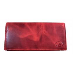 Kožená velká peněženka R červená