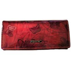 Red luxusní dámská peněženka motýl