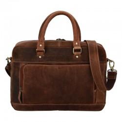 Pánská kožená cestovní taška světle hnědá