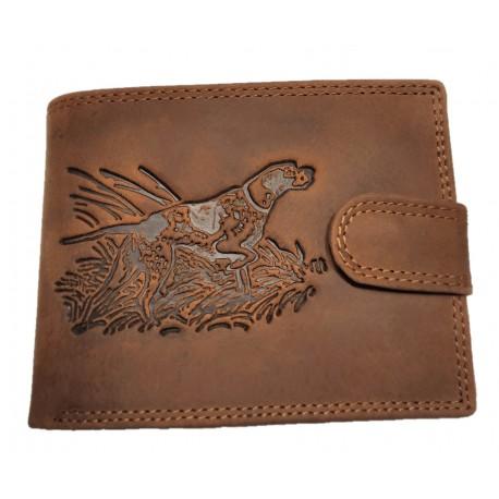 Lovecká kožená peněženka kachna