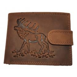 Lovecká kožená peněženka
