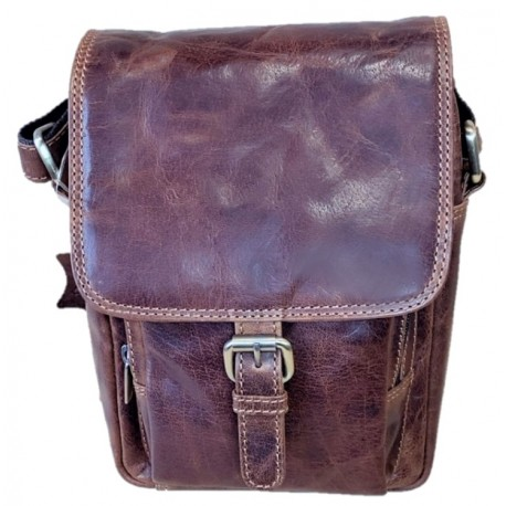 Kožená luxusní hnědá pánská taška