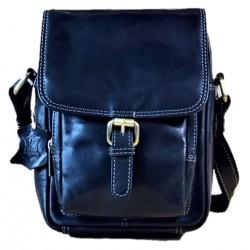 Kožená luxusní černá pánská taška